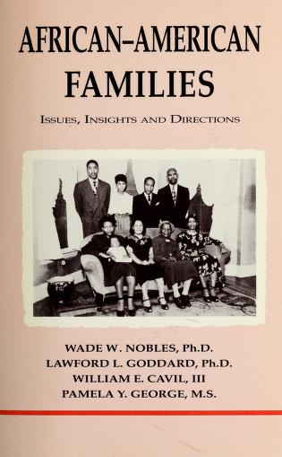 African-American families by Wade W. Nobles ... [et al.]