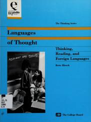Cover of: Languages of thought | Bette G. Hirsch