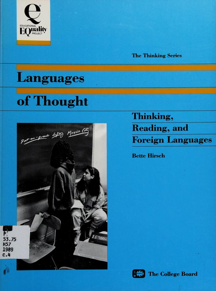 Languages of thought by Bette G. Hirsch