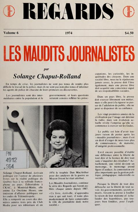 Les maudits journalistes by Solange Chaput-Rolland
