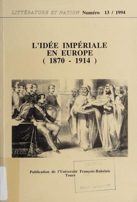 Cover of: L'idée impériale en Europe (1870-1914) | Histoire de l'intelligence européene des Lumières à nos jours