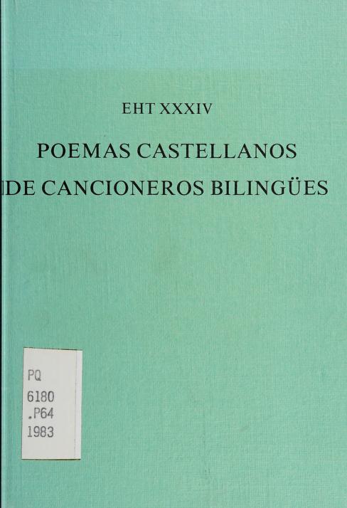 Poemas castellanos de cancioneros bilingües y otros manuscritos barceloneses by edición de Pedro-Manuel Cátedra.