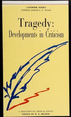 Cover of: Tragedy   R.P. Draper